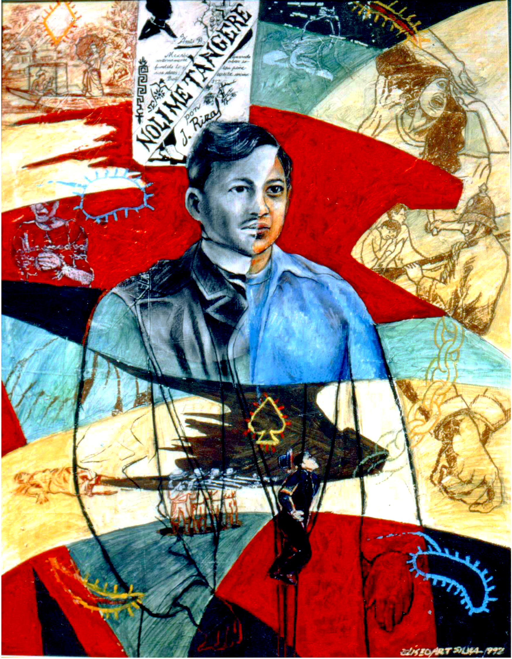 Rizal with Self Portrait (1992)
