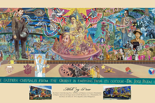 "Filipino Philadelphia Mural (22"" x 12"") Poster"