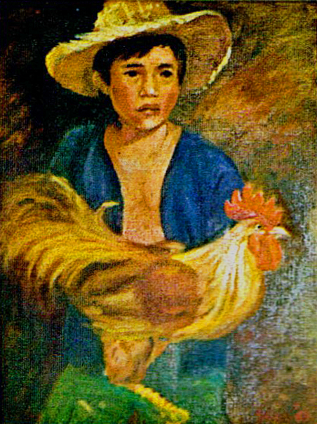 Boy with Rooster (1984)