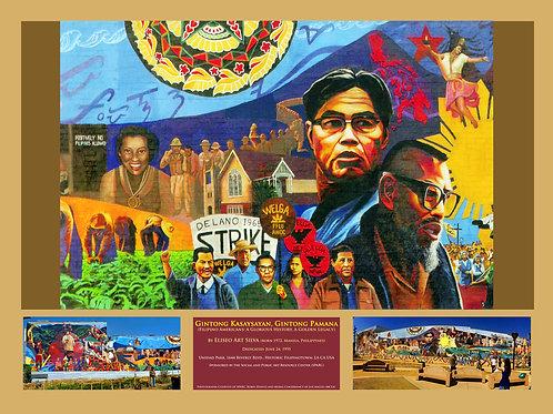 "Gintong Kasaysayan Filipinotown Mural (20"" x 16"") Giclee on Canvas"