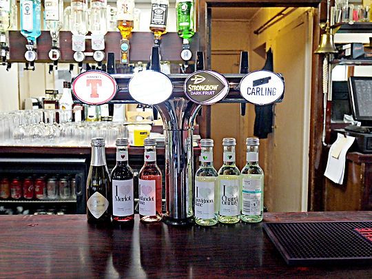 Choice of beers, cider and wines