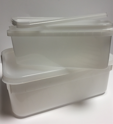 PLASTIC 4LTR TUBS WITH LIDS
