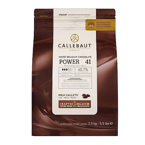 CALLEBAUT MILK CHOCOLATE PISTOLES 500G TUB