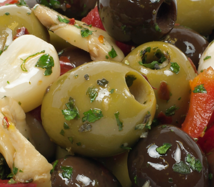 MEDITERRANEAN MIXED PITTED OLIVES 3KG