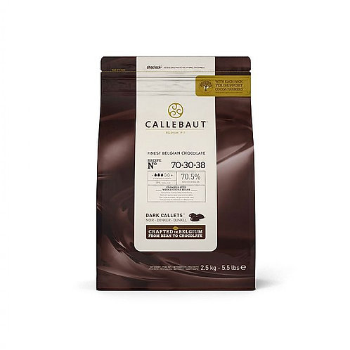 CALLEBAUT EXTRA BITTER CHOCOLATE 70% 500G BAG