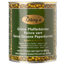 GREEN PEPPERCORNS IN BRINE 850G