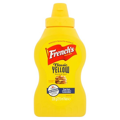 FRENCHS MUSTARD 226G SQUEEZY BOTTLE