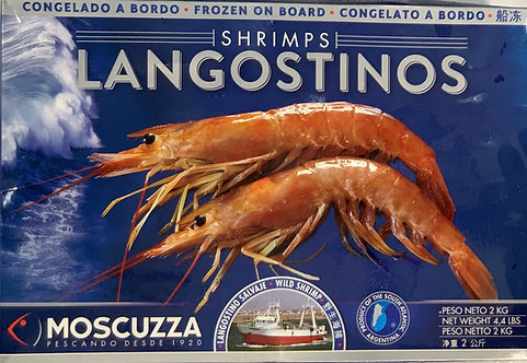 FROZEN WHOLE ARGENTINIAN RED PRAWNS 2KG 16-32 PER BOX