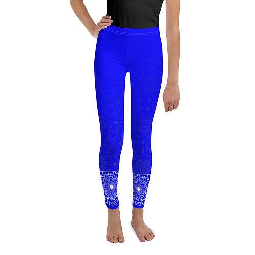 Jhana (Electric Blue) Youth Leggings