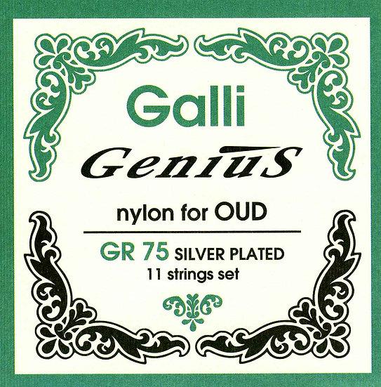 Galli Genius GR75 Oud New Cristal Nylon 11 String Set, 22-40