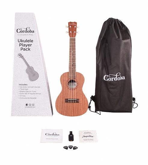 Córdoba Ukulele Player Pack Concert