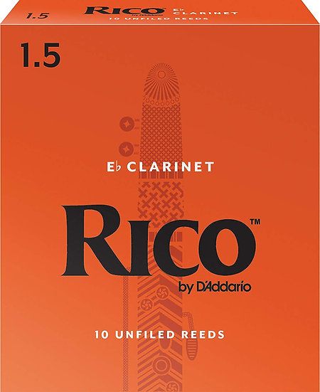 Rico Eb Clarinet Reeds, Strength 1.5, 3-pack