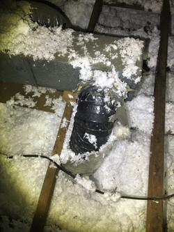 Damaged HVAC ductwork