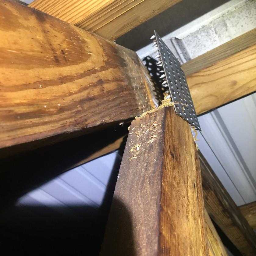 compromised attic structure