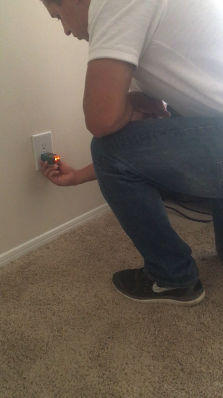 Inspecting electrical outlets