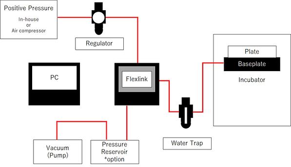 真空圧 伸展刺激培養装置の設置例
