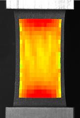 圧縮強度試験機 - UniVert - ヒートマップ