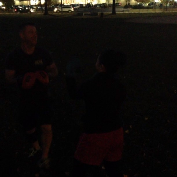 Alexis working on her boxing with head trainer Jeff #Boston #ADSL #Dorchester #Boxing