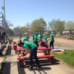 Volunteers at Town Field