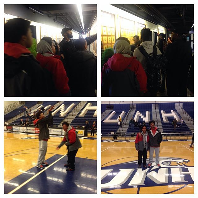 ADSL's basketball coordinator Alfred McClain takes our rising star basketball players on a tour of h