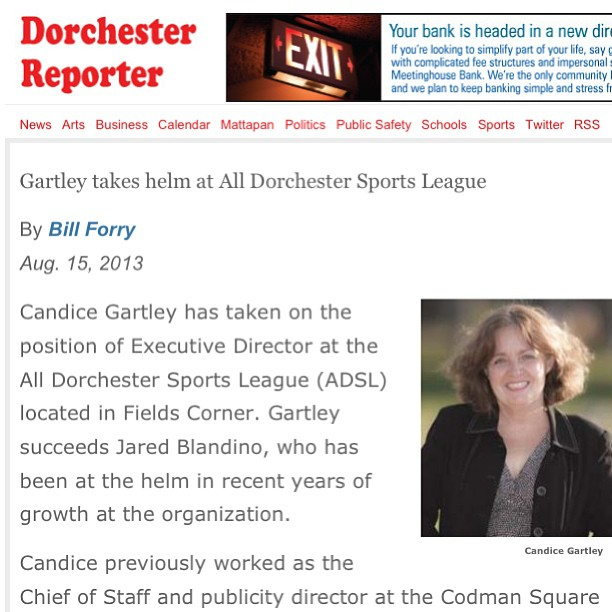 Be sure to check out this article in the #Dorchester Reporter featuring our new executive director C