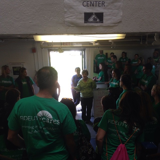 So excited to have Boston Cares and Fidelity Volunteers here with us at ADSL today!