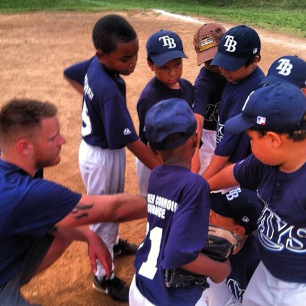 Coach Shane _beegs1897 rallying the troops and getting jacked up for the game! #Dorchester #Boston #