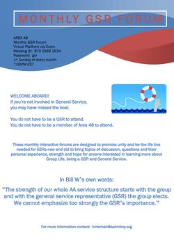 A48 Monthly GSR Forum