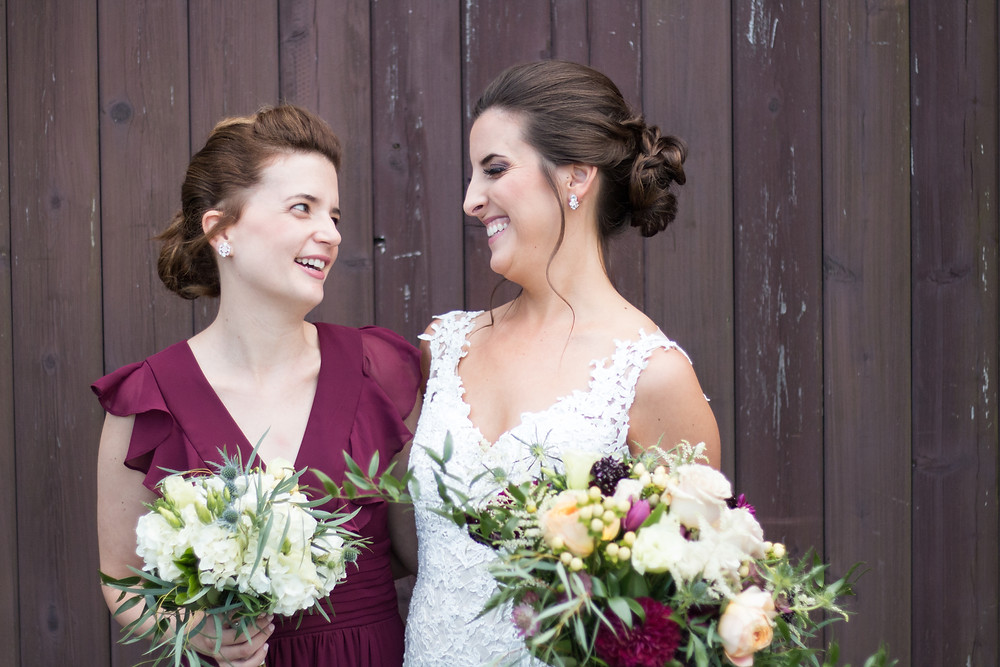 Best Friends in wedding at Trader's Point + Miss Cara Photography