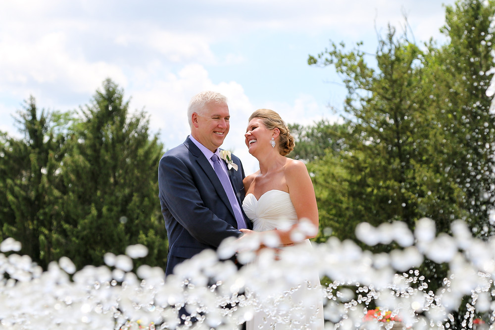 Indianapolis bride and groom get married at Garfield Park