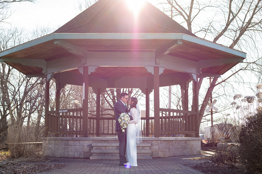 Bridal photos at Ole Olson Building, Peru Indiana by Miss Cara Photography