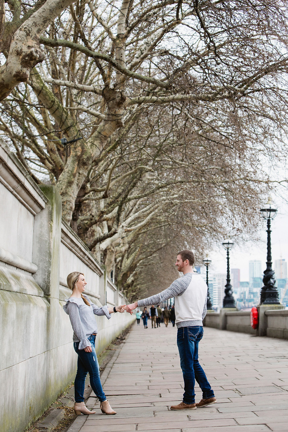 Lucy Williams Photography Photographs Couple on River Thames