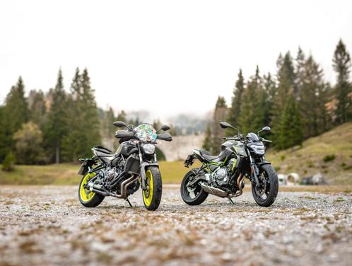 Yamaha MT07 & Kawasaki Z650