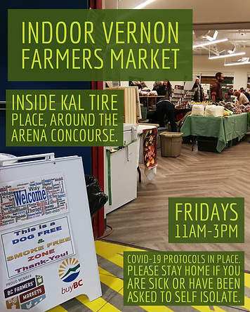 Vernon Farmers Market moves indoors