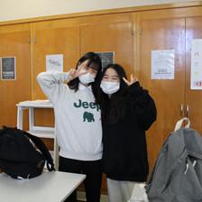 Mentor Mentee Program: from left to right, Mina Yang (mentee) and Yueun Grace Hong (mentor)