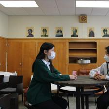 Mentor Mentee Program: from left to right, Soeun Lilly Kim (mentor) and Songseol Yun (mentee)