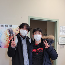 Mentor Mentee Program: from left to right, Jin Jeong (mentor) and Juheon Seo (mentee)