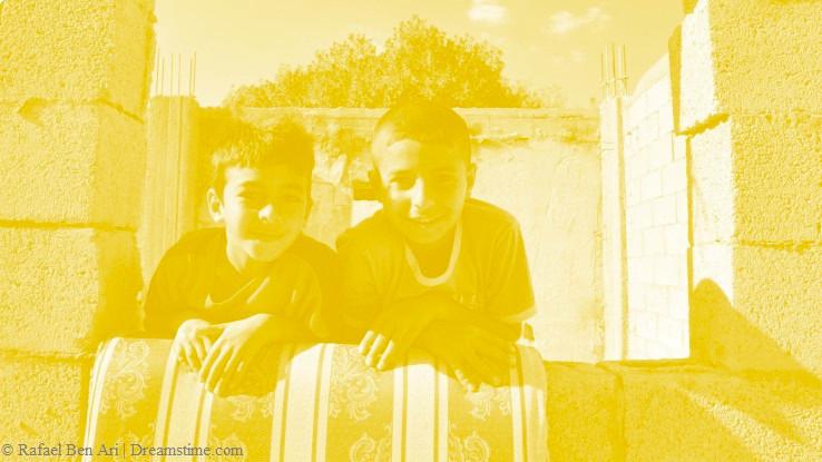 אילוסטרציה - ילדים בדווים
