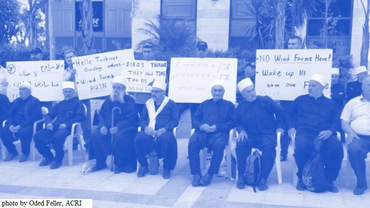 Protest againt Wind Turbine Plan