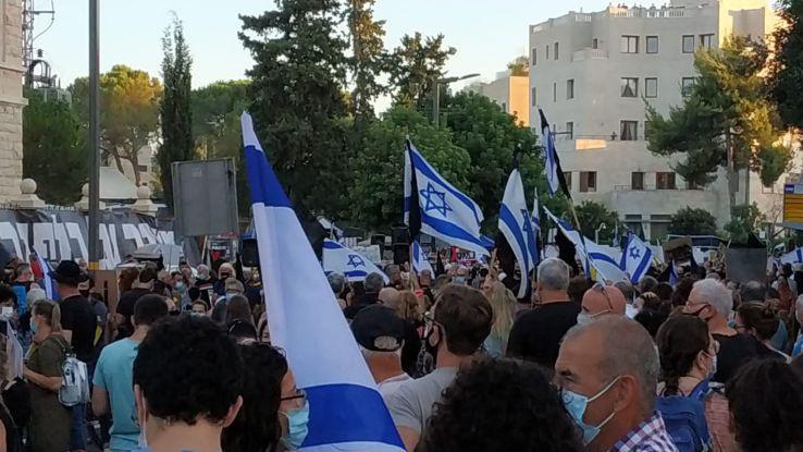 הפגנה מול מעון ראש הממשלה