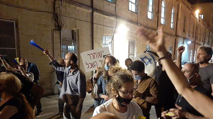 הפגנה בעקבות מעצרו של אמיר השכל
