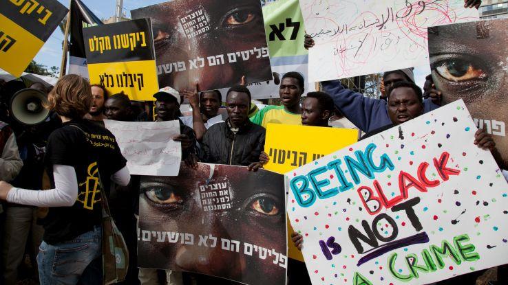 Asylum seekers protest