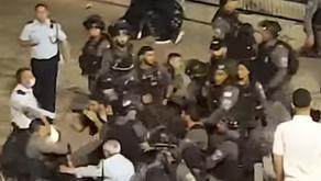 חסימות ואלימות משטרתית בשער שכם בלילות רמדאן