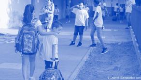 מיוני תלמידים בכניסה לבתי ספר