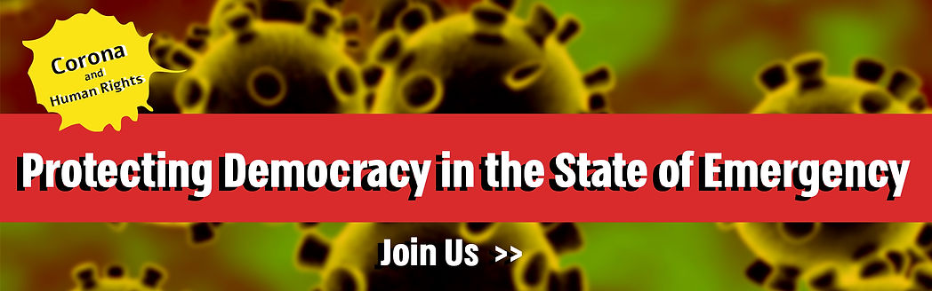 Protecting Democracy in the State of Emergency - Join us
