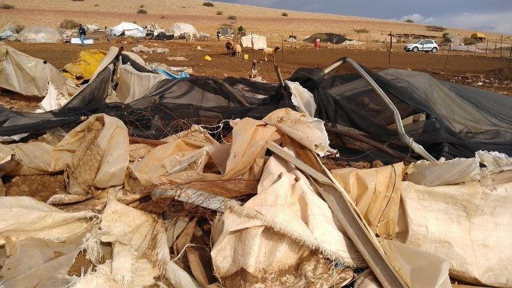 הריסת מבנים בח'ירבת חומסה