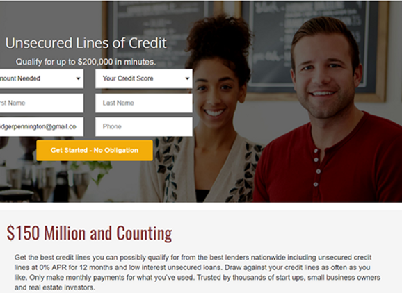 Unsecured lines of credit