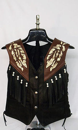 Women's Snakeskin Eagle Two-tone Vest
