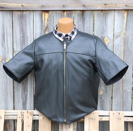 Short Sleeve Leather Shirt
