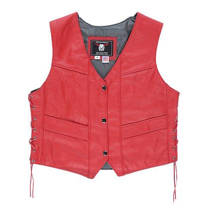 Women's Plain Red Vest